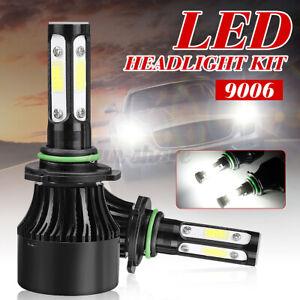 2pcs 9006 4-Side Combo LED Headlight Kit Hi-Low Beam Bulb 6000K 120W 32000LM