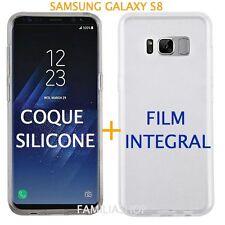Coque transparente souple silicone samsung galaxy S8 + film integral entier