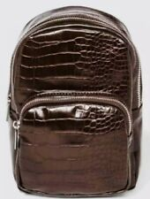 Wild Fable Womens Convertible Backpack Brown Faux Snake Handbag Sling Purse—NWT!