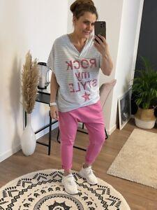 Schöne Baggy Hose mit Taschen in Fuchsia Pink One Size bis Gr. 42 NEU (R1)