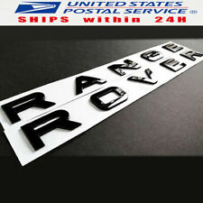 RANGE ROVER Gloss Black Letters Hood Trunk Tail Gate Emblem Badge Nameplate