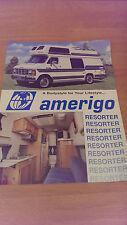 Amerigo RV Motorhome Van Camper 1988 AD-------Sales Brochure