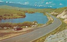 MT, Montana   60's CAR By BIG HOLE RIVER  Between Wise River & Wisdom   Postcard