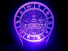 Gravity Falls Bill Cipher Wheel Lamp LED Night Light Bedroom Color Changing MAP