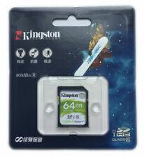 8GB 16GB 32GB 64GB Kingston SD SDHC /XC Class10 Scheda di Memoria F. Canon Nikon