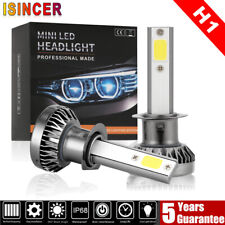 MINI H1 LED Headlight Conversion Bulbs Kit 200W 48000LM 6000K Hi/Lo Beam Lamps