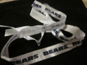 NFL Chicago Bears Football Printed Blue and White Ribbon