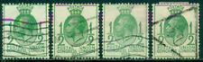 Great Britain Sg-434, Scott # 205, Used, 4 Stamps, Great Price!