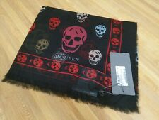 Alexander McQueen Scarf Authentic New with Tags Multi Color Skull Modal Silk