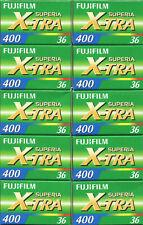 10 Rolls Fujifilm Superia X-tra CH ISO 400 36 Exp. 35mm Color Film exp 04/ 2023