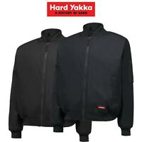 Mens Hard Yakka Bomber Jacket Core Winter Work Hooded Quilted Waterproof Y06680