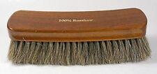 "XXL shoe polishing brush - 1.6"" brown horse hair - Made in Germany"