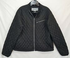52d56917aa OBERMEYER WOMENS BLACK QUILTED INSULATED PUFFER JACKET SIZE 14