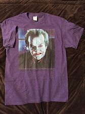 The JOKER- Jack Nicholson, Tim Burton T-Shirt size LARGE (L) Mens Purple- Batman