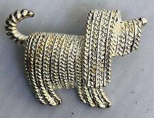Shaggy Sheepdog Komondor Long Haired Dog Pendant Necklace Silver Brooch