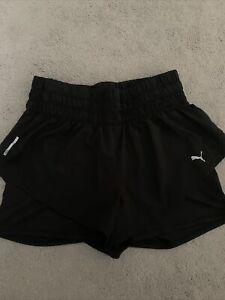 Ladies size L size 12 black PUMA Running shorts VGC