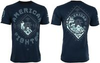 AMERICAN FIGHTER Mens T-Shirt RICHMOND Athletic NAVY BLACK Biker Gym $40