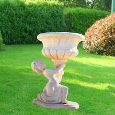 putto, arredamento giardino putto in cemento, vasi,fioriere,arredamento