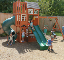 Garden Play Centre Outdoor Wooden Playhouse Large Tree House Children Swing Set