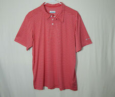 Columbia Sportswear Omniwick Golf Polo Shirt Red Size ADULT MEDIUM Mens Clothing