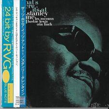Stanley Turrentine – That's Where It's At BN RVG JAPAN MINI LP CD Les McCann