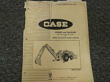 Case Loader & Backhoe For 310 Utility Wheel Tractor Parts Catalog Manual Book