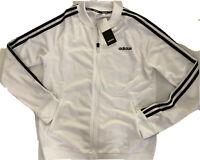 Adidas Originals FL4876 Dazzle Women Track Top Jacket White Black Zip Up Medium