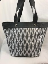 Thirty-One Gray Links Bucket Tote