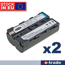 2pcs  FORMAX NP-F550 Rechargeable Li-ion Battery for Sony NP-F550 NP-F330 NP-F53