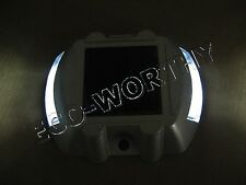 Solar LED Marker Red Yellow White Pathway Safe Caution Light Driveway Road Dock