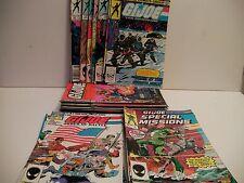 MARVEL COMICS G.I. JOE/SPECIAL MISSIONS/ORDER OF BATTLE BUNDLE (32 issues VG-F )