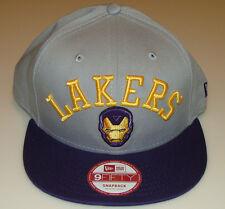 New Era Cap Hat Los Angeles Lakers Snapback M/L 9fifty Adjustable Iron Man NBA