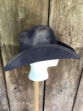 Vtg 70s STETSON Blue Denim Cowboy Hat Western Hippie Boho Size S Cap USA Union