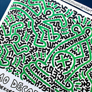 KEITH HARING 2018 DENMARK POSTER