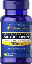 Melatonin 10mg 60 capsules   Puritan's Pride Vitamins Supplements