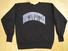 Champion! 90s vtg Northwestern University black Sweat Shirt Reverse Weave medium