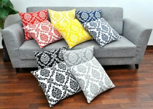 Decorative Damask  Pillow Cover Cushion Cover Pillow Cases 18 x 18, Set of 2,