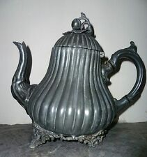 Victorian Pewter Teapot Sheffield