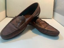 Bass Men's Brown Flex Shoes Penny Loafers Size 12