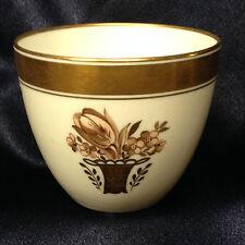 ROYAL COPENHAGEN GOLDEN BASKET FLAT CUP 6 OZ 595 GOLD ENCRUSTED BAND FLOWERS