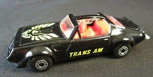 Vintage Matchbox Superfast Pontiac TRANS AM 1979 Neuf sans boite new unboxed