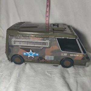 GALOOB 1991 MICRO MACHINES SUPER CITY ARMY CAMO VAN MILITARY FOLD OUT PLAY-SET