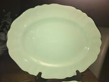 7 PCS J G MEAKIN JADE SOL GREEN PLATTERS AND PLATES