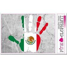 Mexique - main paume Doigt Imprimer étiquette Drapeau DESSIN bandera