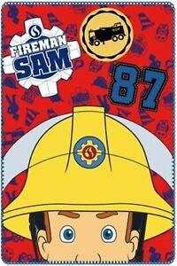 Official Character Boys Fireman Sam Blanket Throw Warm Fleece Plush 100 X 150 cm