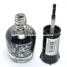 1 Kleancolor Nail Polish Lacquer 188 Black Out Manicure Girl