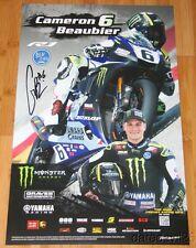 2015 Cameron Beaubier signed Graves Yamaha YZF-R1 Superbike MotoAmerica poster