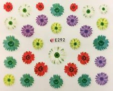 Nail Art 3D Decal Stickers Rich Multicolred Flowers E292