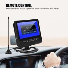 7 Zoll TFT LCD Tragbar Mini TV FM Radio AV Digital Analog Fernseher für Auto
