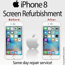 "Genuine Apple iPhone 8 4.7""  Glass Screen Digitiser Repair REFURBISHMENT Service"